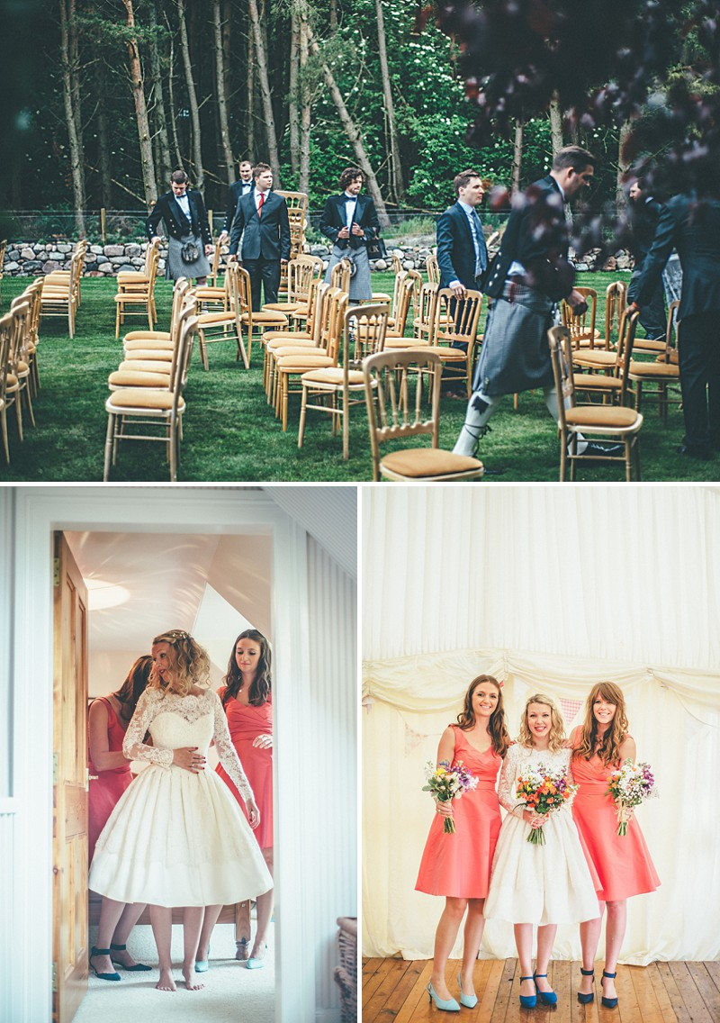 A Scottish DIY Wedding at home with groomsmen in tartan, multicoloured colour scheme and photography by Tub Of Jelly_0004