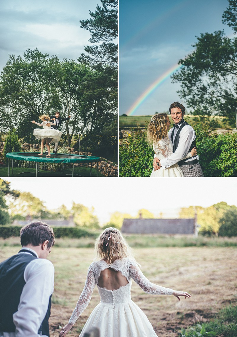A Scottish DIY Wedding at home with groomsmen in tartan, multicoloured colour scheme and photography by Tub Of Jelly_0010