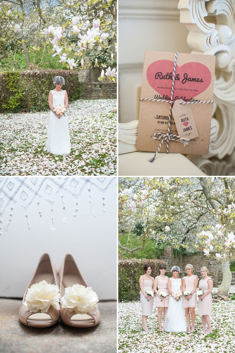A beautiful wedding in Somerset with a peach and pink colour scheme and a Lusan Mandagos dress_0315
