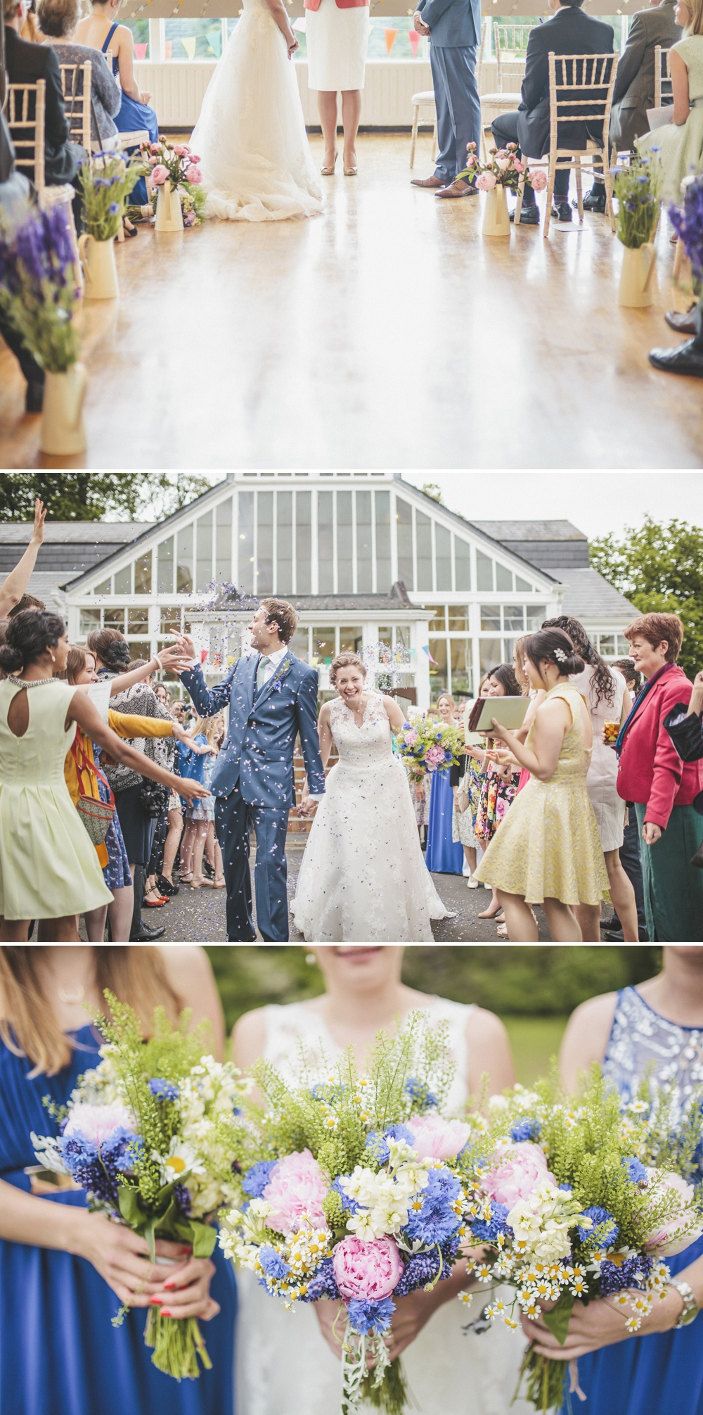 A fun outdoor wedding in Northumberland with a blue colour scheme, bridesmaids and flowersand wedding gown by Mia Sposa and photography by Sarah-Jane Ethan_0001