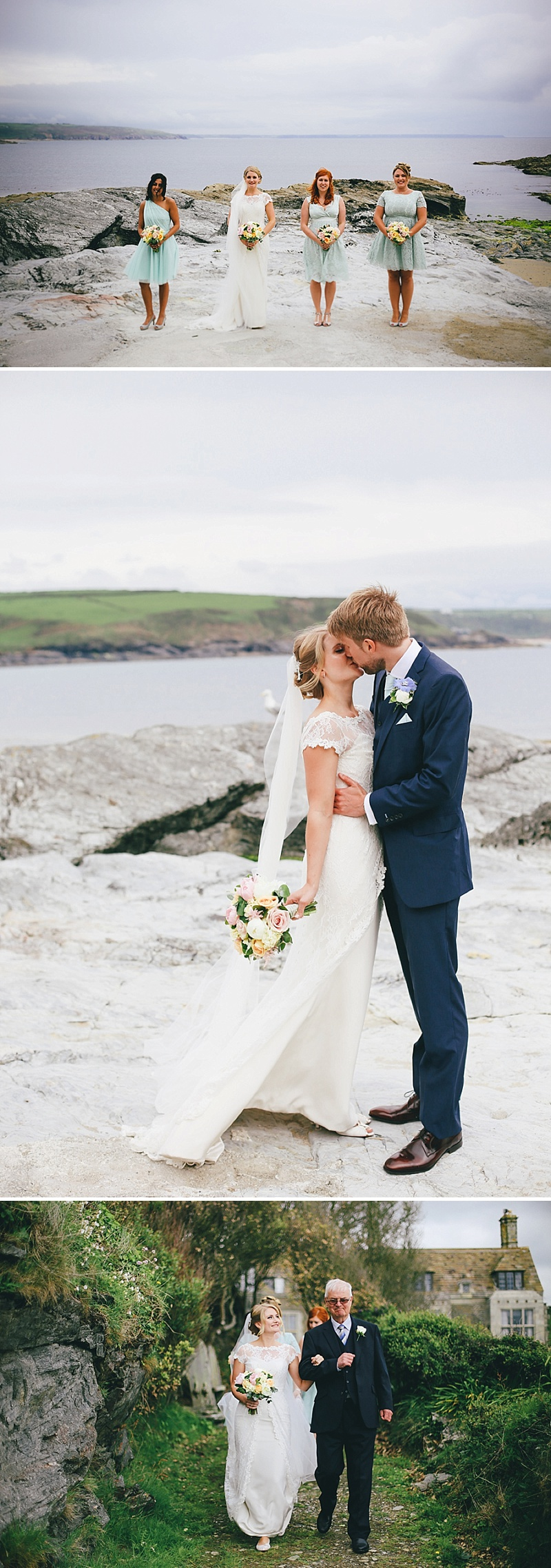 Cornish Clifftop Wedding From Love Oh Love Photography 1