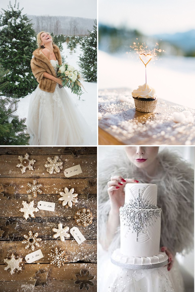 A Guide To Styling A Winter Wedding With Silver Metallic Accents And ...
