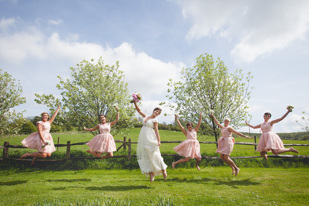 Rustic Pastel Wedding At Upwaltham Barns With Bride In