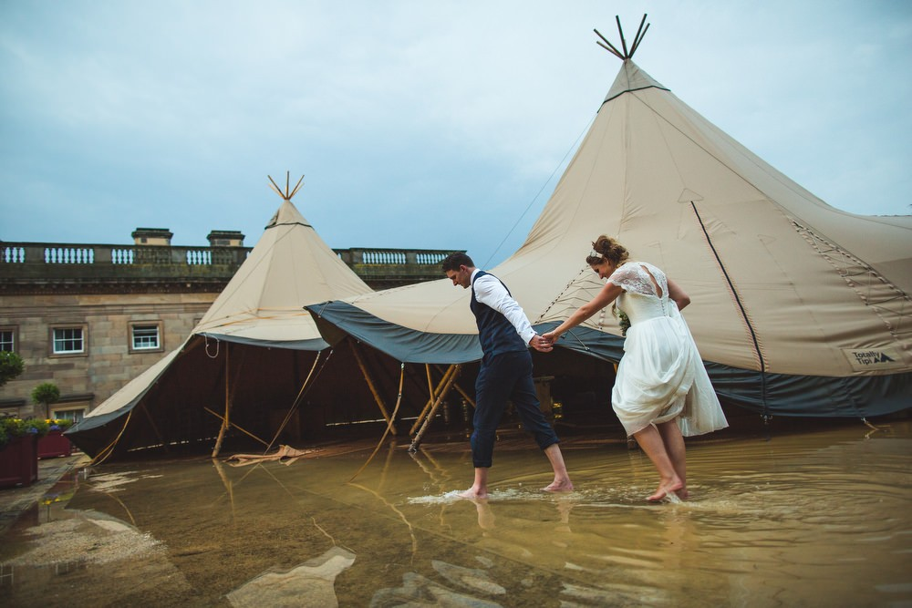 Cherish By Suzanne Neville Navy Bridesmaids Maids To Measure For The Famous Flooded Rustic Tipi