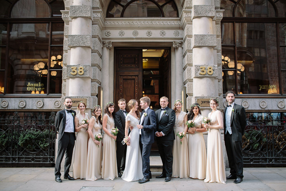 London city wedding with bride wearing a Johanna Heir wedding Gown ...