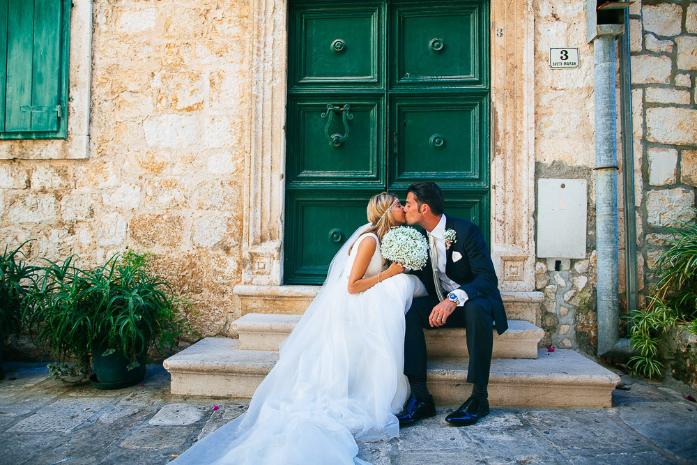 Pronovias Wedding Gown With Jimmy Choo Sandals For A