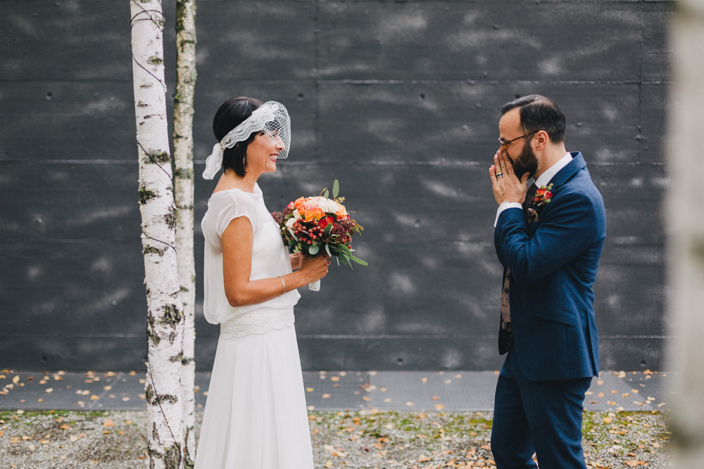Rock My Wedding Groom Gift : ... Wedding in Zurich with Groom in Bespoke Tweed Tailored Suit & Heart
