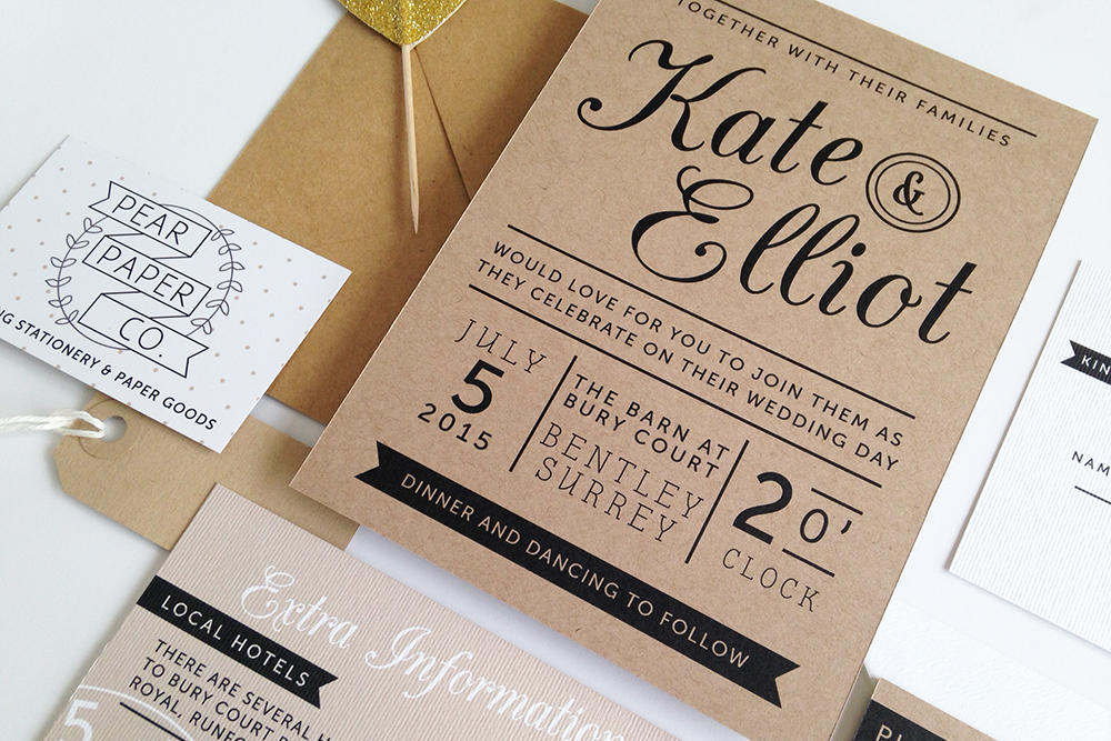 quality kraft paper wedding invitations archives - rock my wedding, Wedding invitations