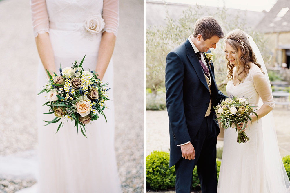 Timeless Ivory Gold Wedding With Scottish Traditions In: Naomi Neoh Violette Wedding Dress For A Rustic Wedding At