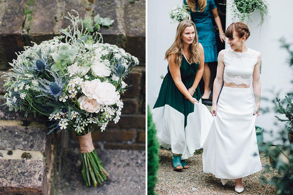 Forest green bridesmaids gowns archives rock my wedding for Forest green wedding dress