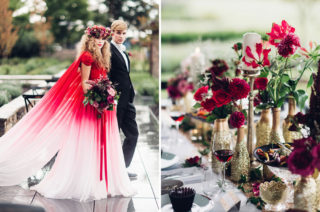 Elegant Metallic Gold & Red Wedding Inspiration by Miss Gen
