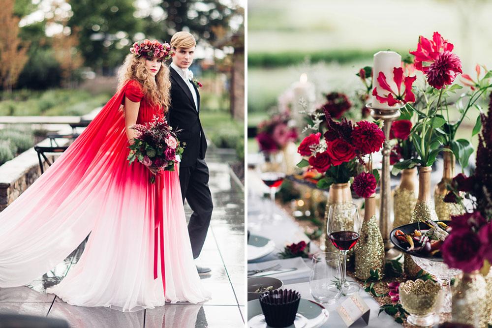 Elegant Metallic Gold & Red Wedding Inspiration by Miss Gen
