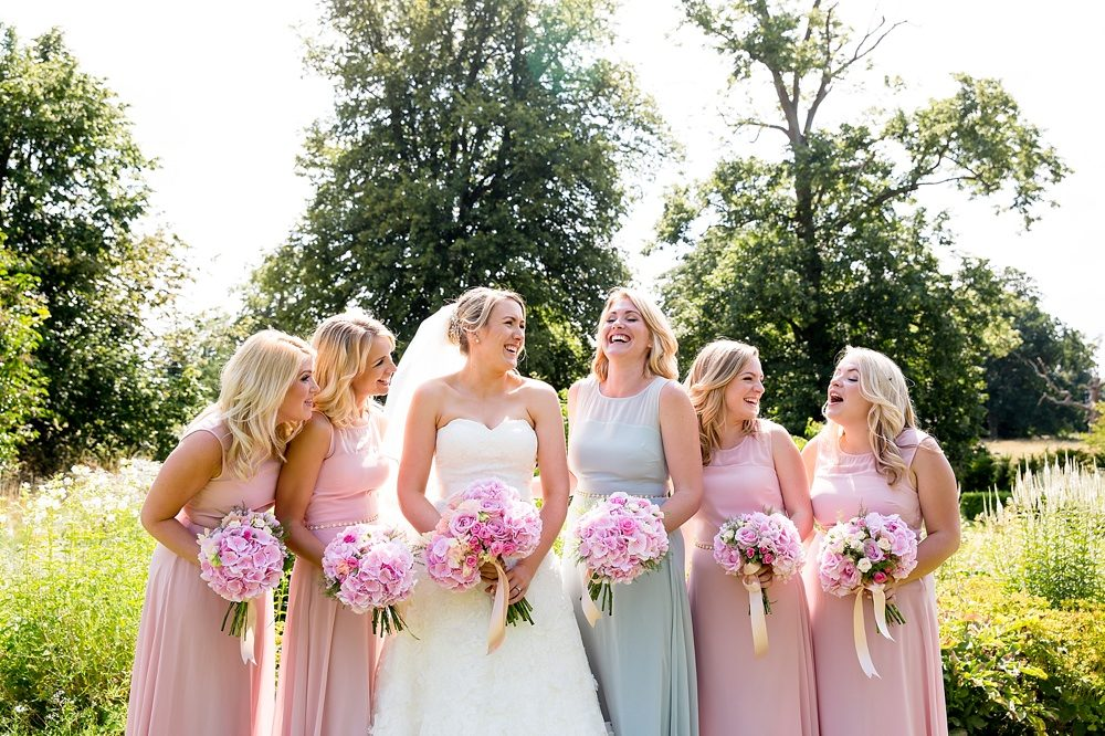 Outdoor Ceremony At Narborough Hall Gardens With Pink