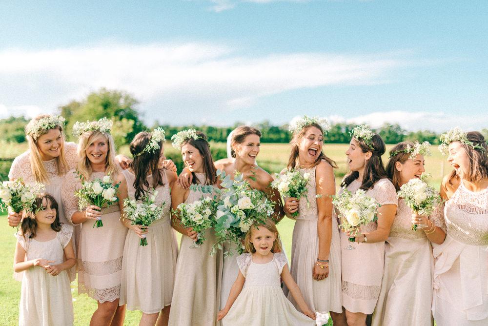Flower print wedding