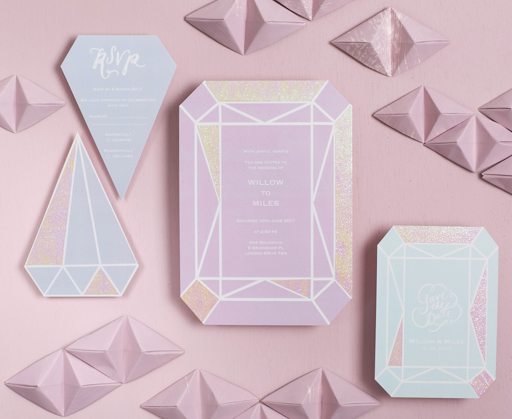 Gem Shaped Invitation Suite // BerinMade