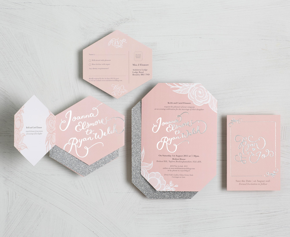 Hexagonal Tri-Fold Invitation // BerinMade