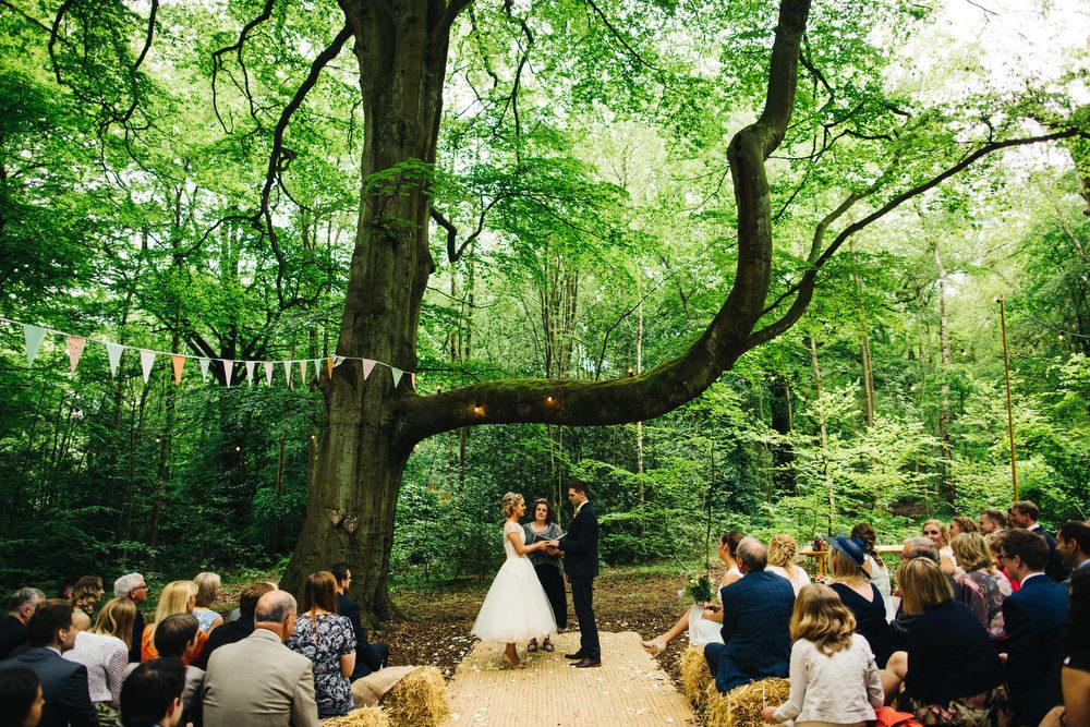 Outdoor Woods Wedding Ceremony: DIY Rustic Outdoor Tipi Wedding At Ecclesall Woods In