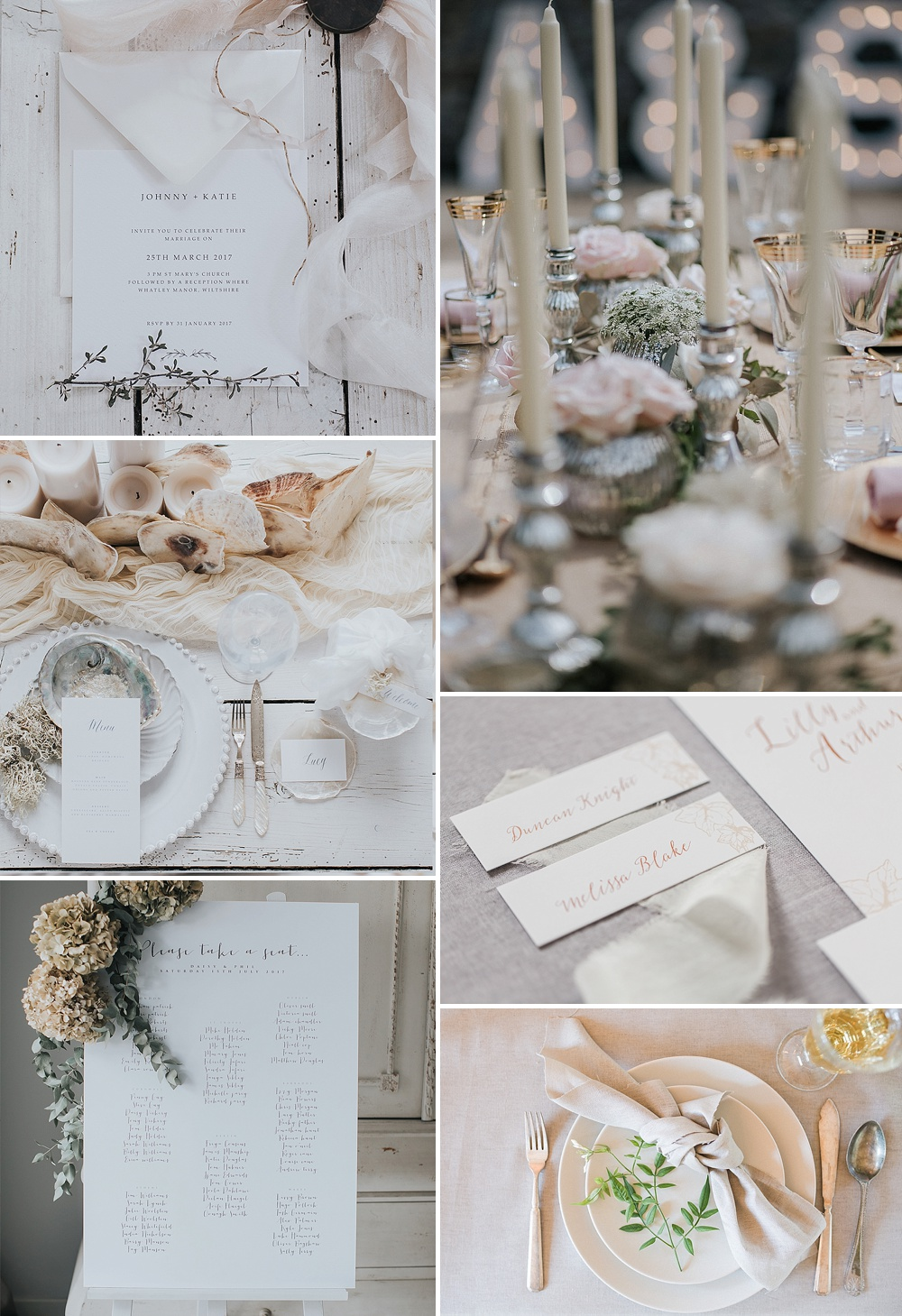 Wedding Stationery With A Pearl Finish