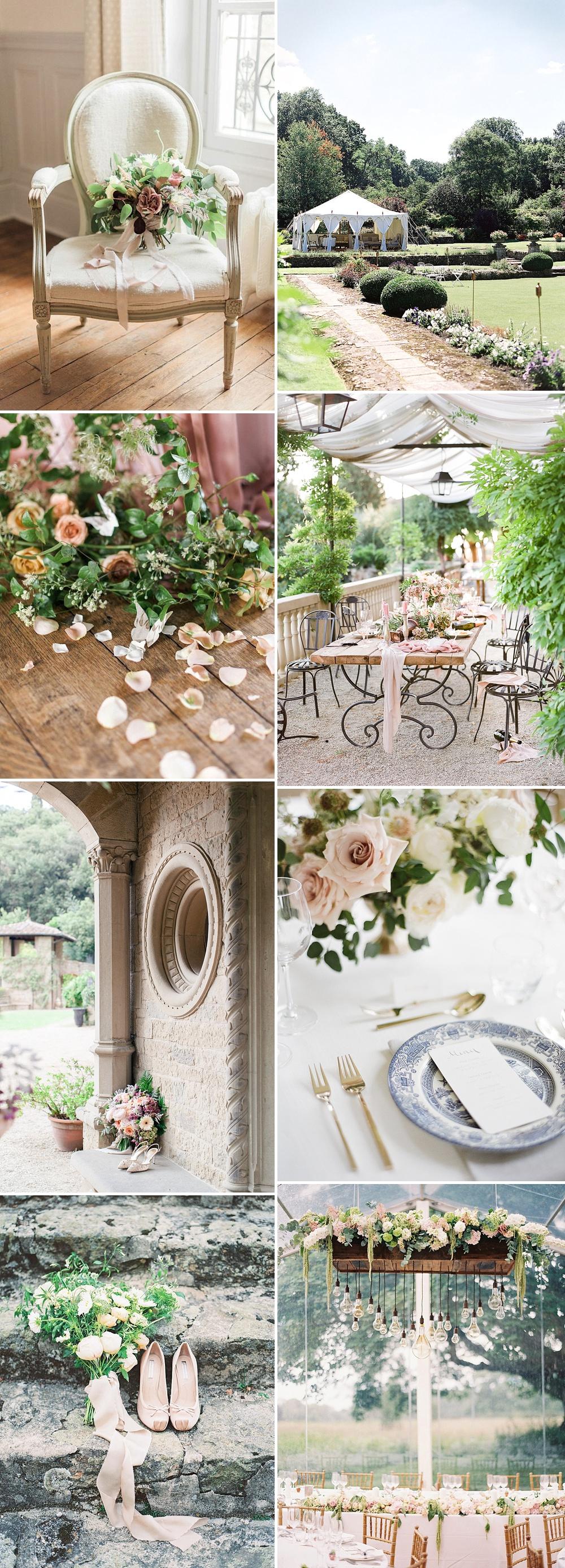 Romantic and Feminine Blush Pink & Gold Summer Wedding Inspiration
