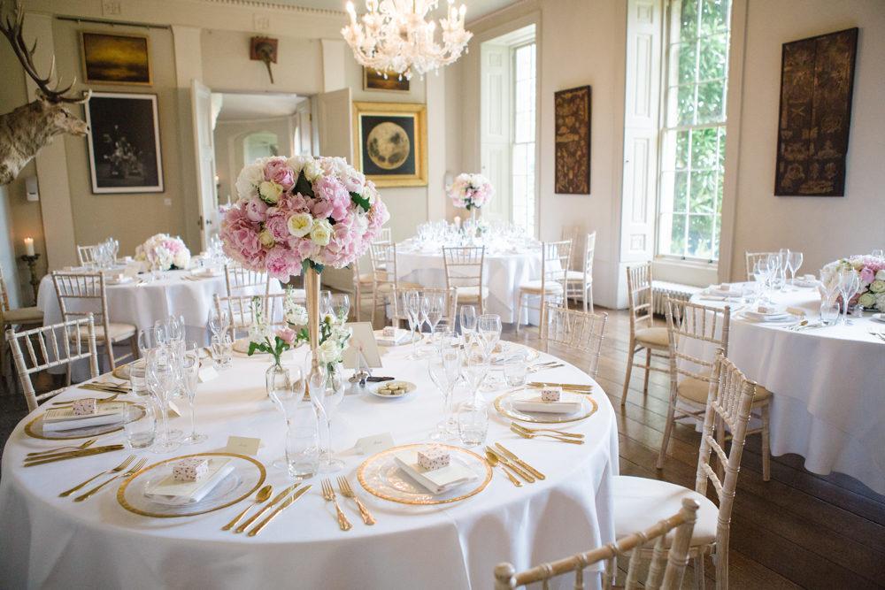 Elegant Pink, White & Gold Wedding At Aynhoe Park With