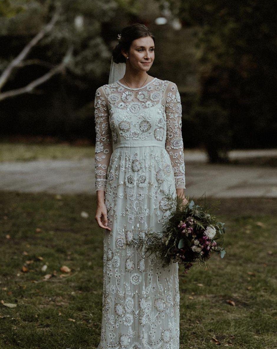 Stylish Islington Wedding for £20 with Beaded Needle & Thread Dress