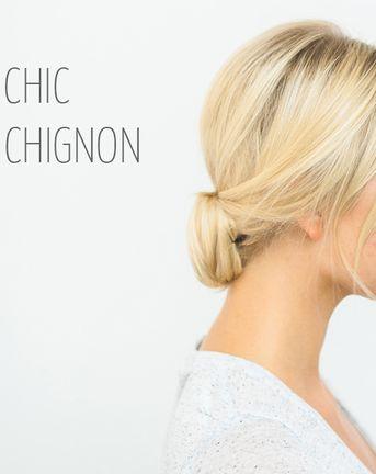 DIY A Super Chic Modern Chignon