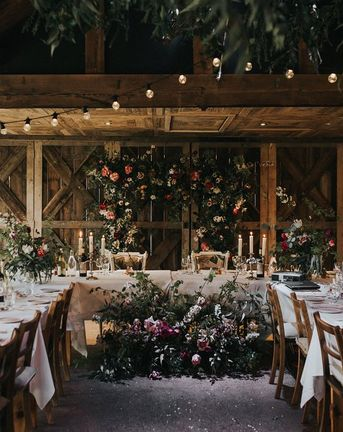 Vintage Dewsall Court Wedding | Floral Installation | Lusan Mandongus Wedding Dress | Lilac Multiway Bridesmaid Dresses | Kerry Diamond Photography