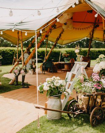 DIY Rustic Tipi Wedding at Riverhill Gardens, Sevenoaks   Outdoor Ceremony   Halo & Wren Wedding Dress   Frances Sales Photography
