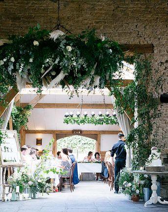 Rustic Greenery Wedding at Cripps Barn Cotswolds | Antonia Berta Muse Wedding Dress | Show Me Your Mumu Bridesmaid Dresses | Wedding_M Photography