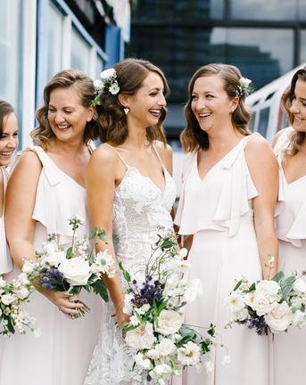 Rosa Grace Loves Lace Wedding Dress Shoreditch Wedding at Village Underground   Coast Bridesmaids Dresses   Chris Barber Photography