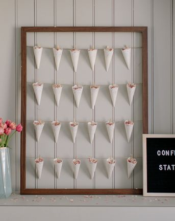 How to create a confetti cone station for under £25