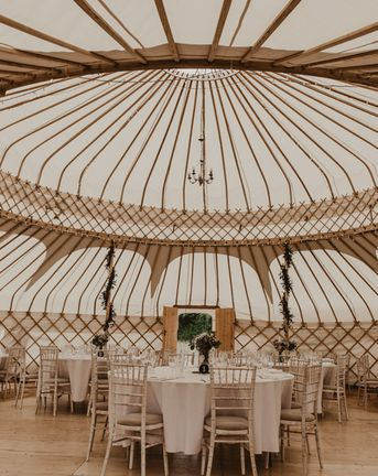 Yurt Wedding with Outdoor Naked Tipi Ceremony, Glitter Station & Peach Rewritten Bridesmaid Dresses, with Bride in Made With Love, shot by Nesta Lloyd