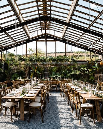 Anran Wedding in Spring with Outdoor Ceremony & Glasshouse Reception