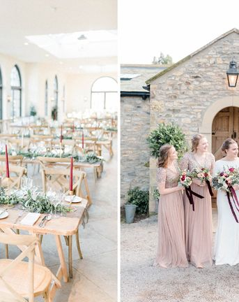February Wedding at The Fig House Middleton Lodge with Burgundy Decor