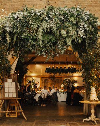 November Wedding at Cripps Barn with Greenery & Candlelight