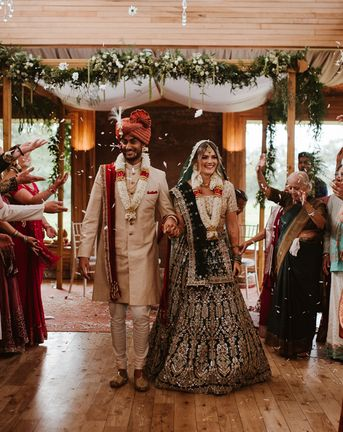 Civil Wedding Ceremony and Hindu Traditions at Elmore Court