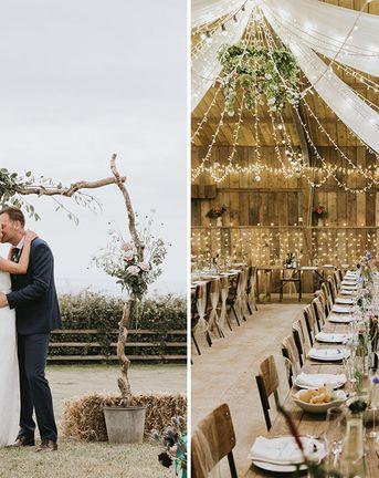 Sustainable Vegan Wedding With Festival Theme at Rustic Devon Venue