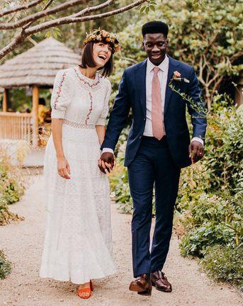 Broderie Anglaise Wedding Dress