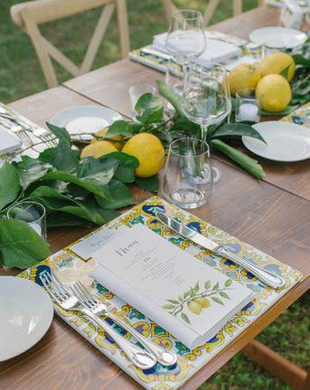 lemon wedding decor