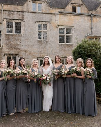 C5 GREY BRIDESMAID DRESSES CHARLOTTE AND IAN