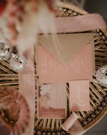 Blush Pink Wedding Invitations Pierra G Photography