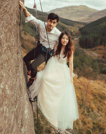 Rock Climbing Wedding