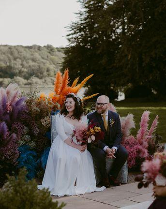 Pink Pampas Grass Wedding