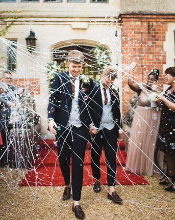 Typewriter font wedding invites