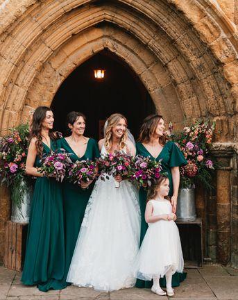Pink winter Wedding Flowers
