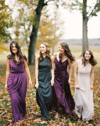 autumn bridesmaid trends