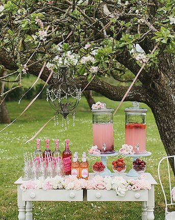 Pink Floral Soda Bar DIY For Your Wedding Day