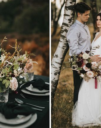 Romantic, Bohemian Elopement in the Peaks by Natalie Hewitt Wedding Planner | Sunset Portraits | Wedding Inspiration | Henry Lowther Photography