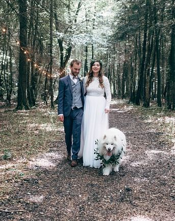 Woodland Wedding With Humanist Ceremony And Dog Ring Bearer