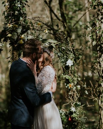 Woodland Wedding With A Botanical Greenhouse Reception